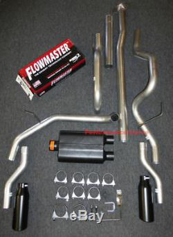 09-14 Ford F150 Catback Dual Exhaust Rear Exit Flowmaster Super 44 Muffler
