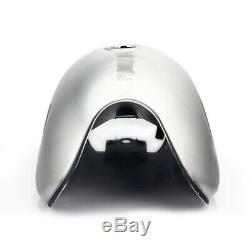 10L / 2.6 Gal Universal Cafe Racer Vintage Gas Fuel Tank Cap Keys Petcock Custom