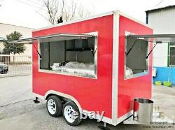11ft Box Mobile Food Cart Trailer Made to Order Stainless Steel Custom Truck