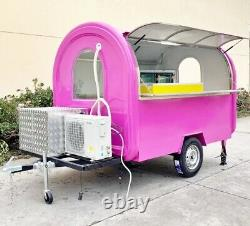 13' Mobile Food Cart Trailer Made to Order Stainless Steel Custom Food Truck