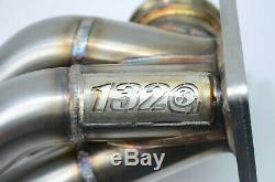 1320 Performance K20 k24 turbo manifold sidewinder T4 60mm WG downpipe & tube V3