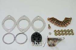 1320 Performance Tundra Dual Exhaust Kit 2x Muffler bolt on system TRD style V2