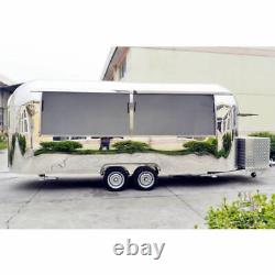 19' Mobile Food Cart Trailer Made to Order Stainless Steel Custom Food Truck