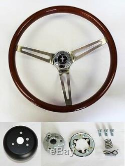 1965-1969 Mustang Wood Steering Wheel Mustang Cap 15 High Gloss Finish