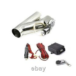 2.25 57mm Electric Exhaust Valve Catback Downpipe Y-Pipe Cut System Remote Kit