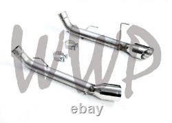 2.5 Dual Axle Back Exhaust Muffler Delete Pipe 05-10 Ford Mustang GT & GT500 V8