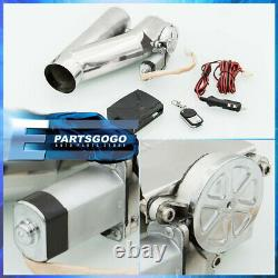 2.5 Electric Exhaust Catback/Downpipe Cutout Valve System Kit With Remote Control