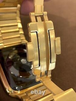 24K Gold Plated 44MM Apple Watch SERIES 5 DIAMOND POLISHED Link Band CUSTOM