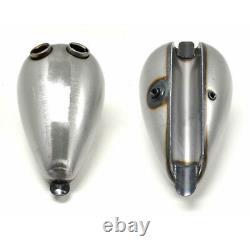 2FastMoto GAS TANK, DUAL CAP 2.2 GALLON CUSTOM CHOPPER BOBBER ALIEN WASP FUEL