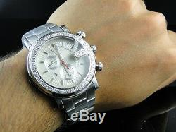 3 Ct New Custom G Watch Mens 1 Row Diamond Gucci Steel Pvd Ya