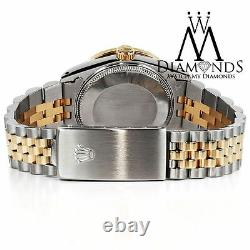 36mm Purple Rolex Datejust Pave Diamond Dial Stainless Steel & 18k Gold
