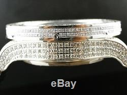 38 Ct Mens Brand New Breitling Super Avenger Vs Diamond Watch Custom Fully Iced