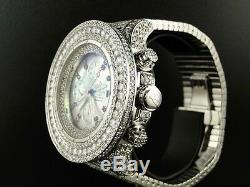 42 Ct Mens Brand New Breitling Super Avenger Diamond Watch Custom Fully Iced