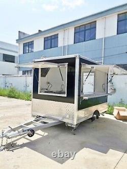 8ft Box Mobile Food Cart Trailer Made to Order Stainless Steel Custom Truck