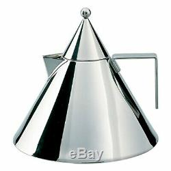 Aldo Rossi 2-qt. Il Conico Water Tea Kettle Stainless Steel, Mirror Polished