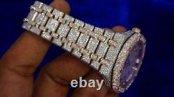 Audemars Piguet Steel Watch Big Diamond Bezel Arabic Diamond Dial Iced Out