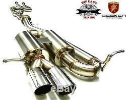 BECKER Cat. Back Exhaust System Fits BMW 2008-2013 135i Turbo 3.0L I6 N54/55B30