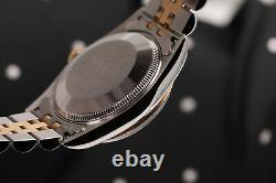 Black Color Dial Women's Rolex 31mm Datejust with Diamond Accent Fluted Bezel