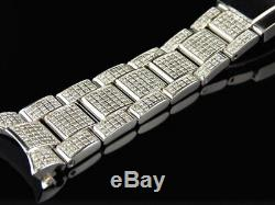 Brand New Mens Rolex Datejust 36 MM Pave Set Diamond Band with 5.5 Ct Custom