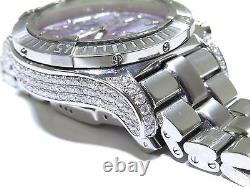 Breitling Super Avenger A13370 Custom Diamonds Steel Automatic Men's Watch