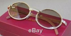 Cartier Gold Stoned Woods Sunglasses (Custom)