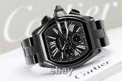 Cartier Roadster Black Dial W62020X6 Custom Black PVD/DLC XL Watch