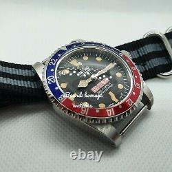 Comex Pepsi Submariner Divers Custom Watch Mod Seiko Nh35 Retro Domed Vintage