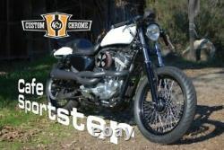 Custom Chrome Steel Chopped Short Rear Fender Café Harley Davidson Sportster XL