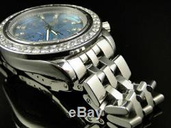 Custom Mens Windrider Breitling Evolution A13356 45 mm Diamond Watch 6 Ct