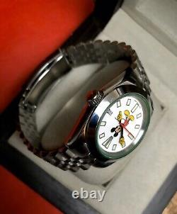 Custom Mickey Mouse 7002 Dial Mod Seiko NH35 Automatic Movement Sapphire 40mm