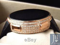 Custom New Mens I Gucci Digital Rose Case Full Diamond Watch 6.5 Ct YA114207