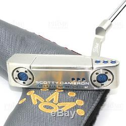 Custom Titleist Scotty Cameron 2018 Newport 2 BLUE Edition Golf Putter Authentic