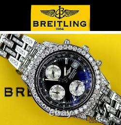 Diamond BREITLING CHRONOMETRE CHRONOGRAPH A13356 AUTOMATIC BLACK DIAL BOX&PAPERS