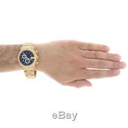 Diamond Gucci Ya101334 Watch 9.50 Ct New Custom Mens 101 G Gold PVD Real 44 MM