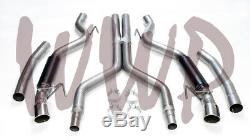 Dual 3 Cat Back Exhaust System & Aggressive Mufflers 15-17 Ford Mustang GT 5.0L