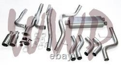 Dual 3 Cat Back Exhaust System Kit For 04-15 Nissan Titan 5.6L V8 Pickup Truck