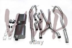 Dual Header Back Exhaust Muffler System Kit 67-74 Mopar/Dodge/Plymouth A Body V8