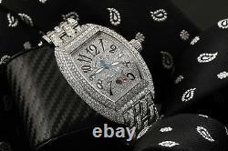 Franck Muller King Conquistador Stainless Steel 25ctw Diamond Men's Watch