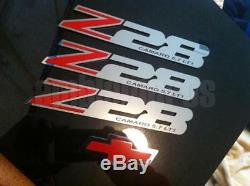 Gm Licensed, 93-02 Camaro Z28 Fill Badges Emblem Set Stainless Steel, Custom Lt1