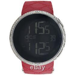 Gucci Diamond Watch YA114212 Custom Full Case Digital Red I-Gucci Band 4 CT