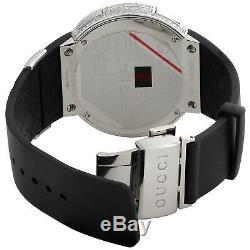 Gucci Diamond White Watch Mens Full Casing YA114202 5 Row Custom Digital 3.5 CT