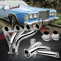 Hugger Stainless Steel Shorty Exhaust Header For Ford Big Block 429/460 Bbc Swap