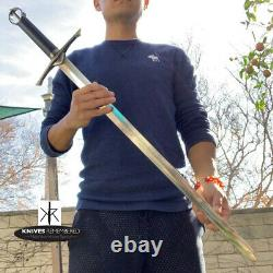 Irish Celtic Medieval Knight Warrior Arming Sword with Scabbard CUSTOM ENGRAVED