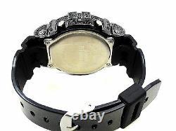 Men's New 3230 Authentic Real Casio G Shock+Custom Black Diamond Simulate Watch