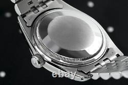 Men's Rolex Watch 36mm Datejust Black Color Diamond Accent Dial & Fluted Bezel