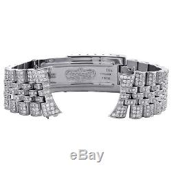 Mens Custom Diamond Jubilee Watch Band to Fit 36mm Rolex DateJust Case 5 CT