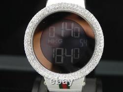 Mens Custom Full Case Digital Red I-Gucci Ya114214 Genuine Diamond Watch 9 CT