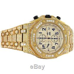 Mens Fully Iced Custom Band Techno Art Joe Rodeo Jojino Designer 43mm CZ Watch