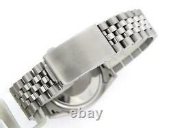 Mens Rolex Date Stainless Steel Watch Engine-Turned Index Bezel Silver Dial 1501