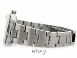 Mens Rolex Date Stainless Steel Watch SS Oyster Band Bracelet Black Dial 1500